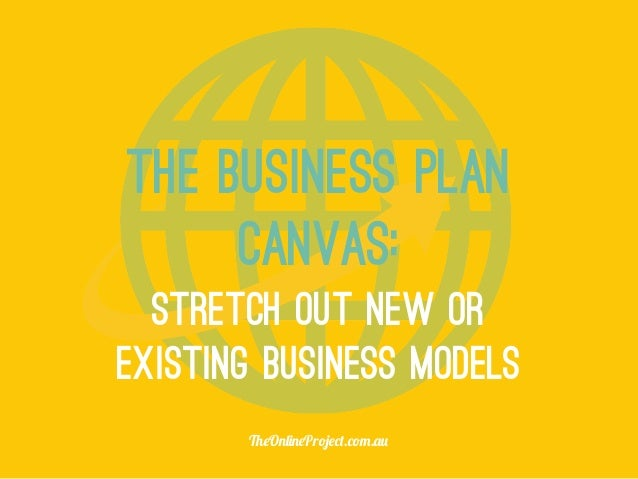 existing business plan model