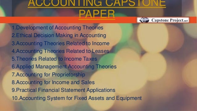 accounting capstone project Looking for a place to buy capstone project get customized capstone project  writing services from us today.