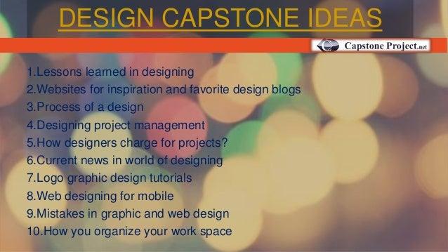 DESIGN CAPSTONE IDEAS ...