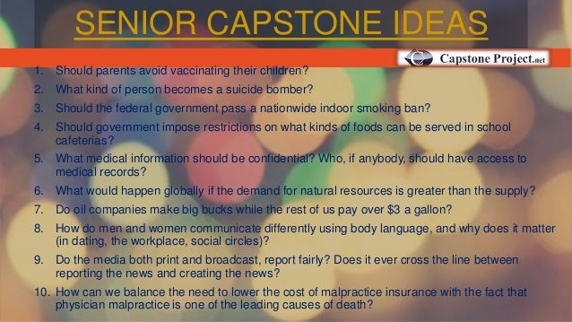 Best Capstone Project Ideas & Topics