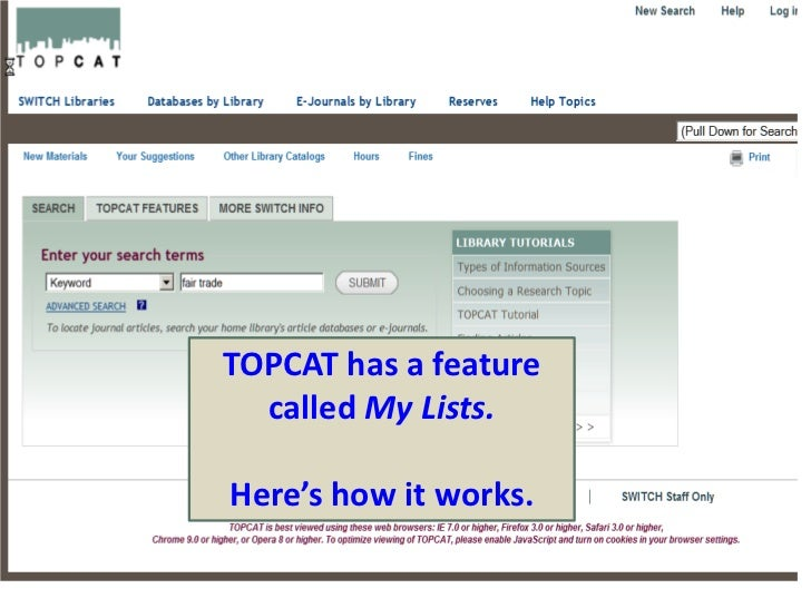 TOPCAT has a feature called My Lists.<br />Here's how it works.<br />