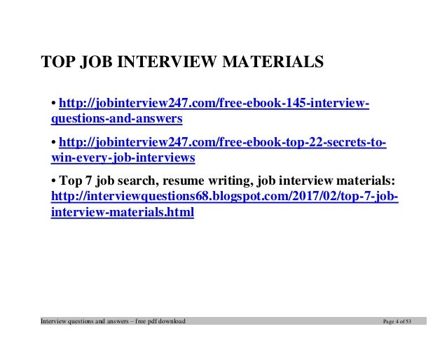 Top 19 civil engineering interview questions and answers pdf ebook fr 4 interview questions and answers free pdf download page 4 of fandeluxe Gallery