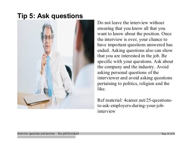 ... Interview Questions And Answers U2013 Free Pdf Download Page 27 Of 30; 28.