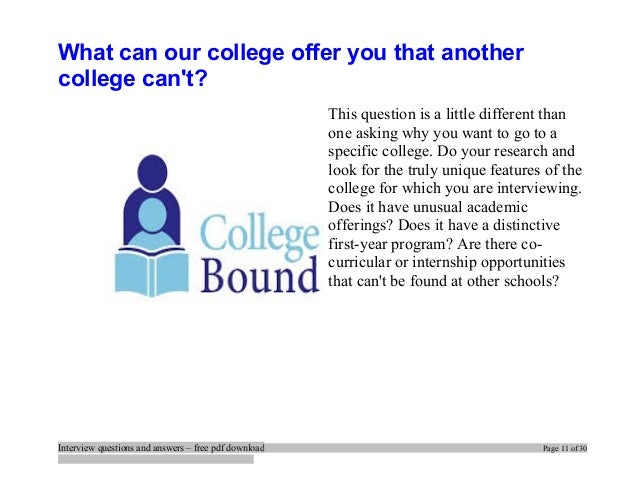 top college interview questions and answers job interview tips