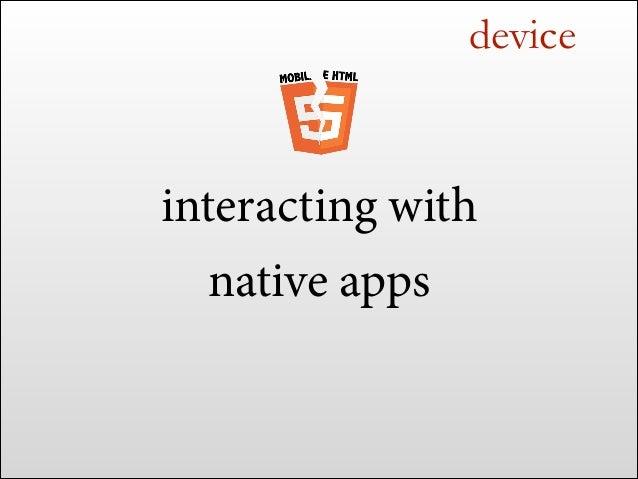 "native integration <meta name=""apple-itunes-app"" content=""app-id=999""> <meta name=""app-argument"" content="""">"