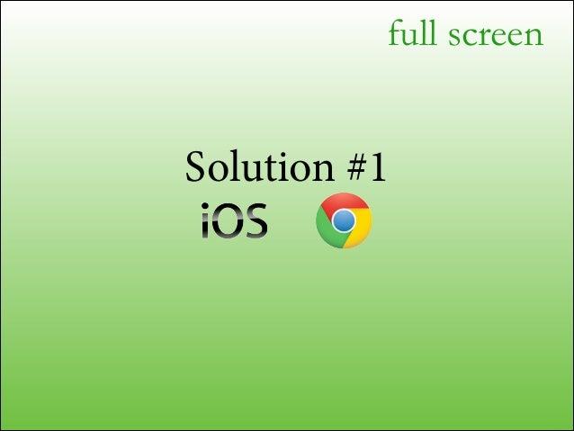 full screen  Solution #2 future platforms