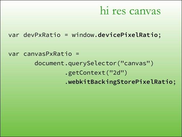 "hi res canvas <script> document.querySelector(""canvas"") .getContext(""2d"") .setScale(2, 2); </script>  300px"