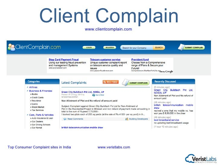 The Consumer Complaint Database is a collection of complaints on a range of consumer financial products and services, sent to companies for response. We don't verify all the facts alleged in these complaints, but we take steps to confirm a commercial relationship between the consumer .