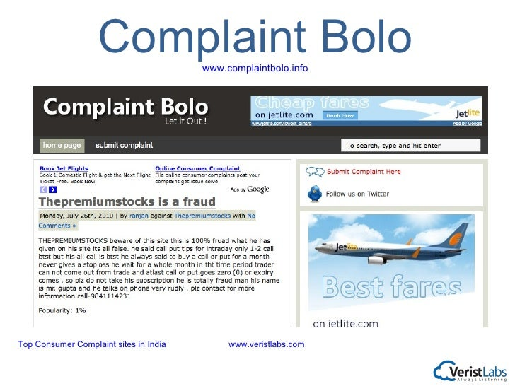 Complaints, reviews and helpful information regarding allegedly unethical companies and bad business practices. Blacklist of bad companies and goods.