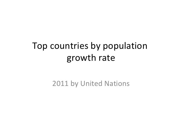 Top countries by population       growth rate    2011 by United Nations