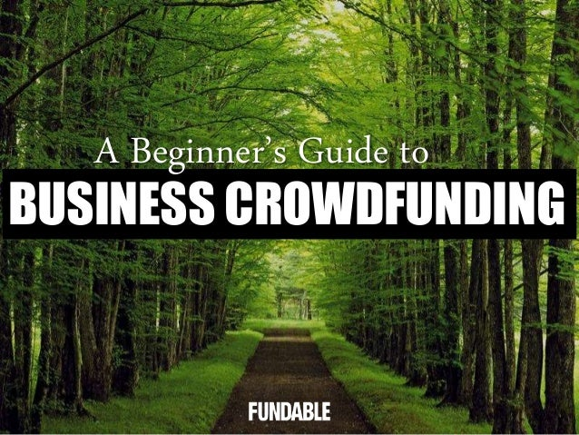 BUSINESS CROWDFUNDING A Beginner's Guide to