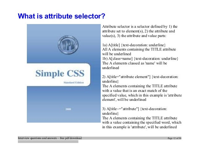 Html5 Css3 Interview Questions And Answers Pdf