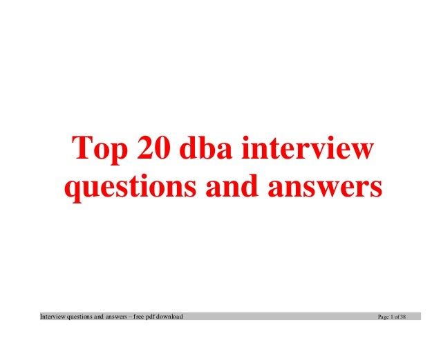 database interview questions pdf