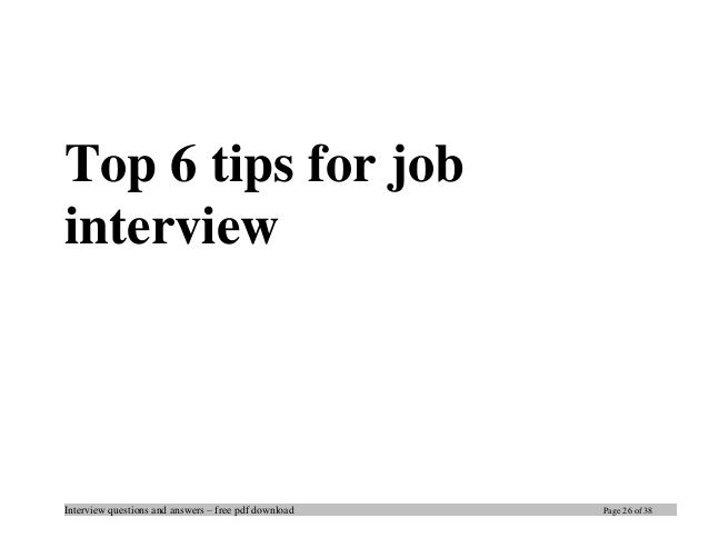 Top dba interview questions and answers job interview tips