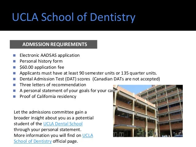 UCLA School Of Dentistry ◼ Electronic AADSAS Application ◼ Personal History  ...