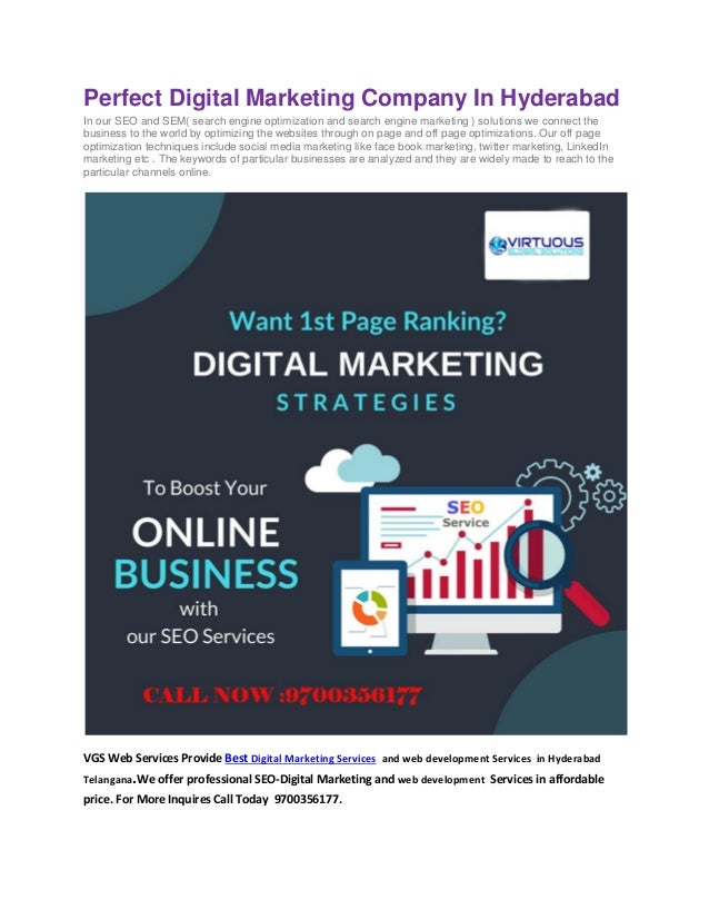 Top digital marketing company in hyderabad | VGS WEB SERVICES