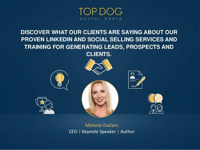 DISCOVER WHAT OUR CLIENTS ARE SAYING ABOUT OUR PROVEN LINKEDIN AND SOCIAL SELLING SERVICES AND TRAINING FOR GENERATING LEA...