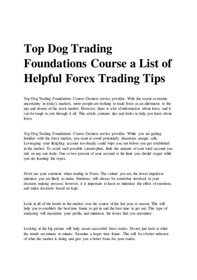 Forex survival guide pdf