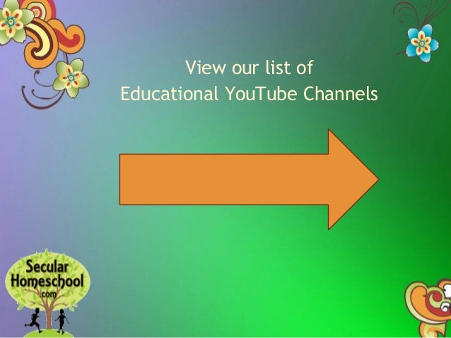 Top Educational YouTube Channels for Secular Homeschoolers