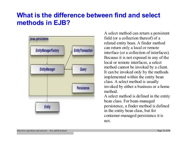 Ejb interview questions and answers pdf download