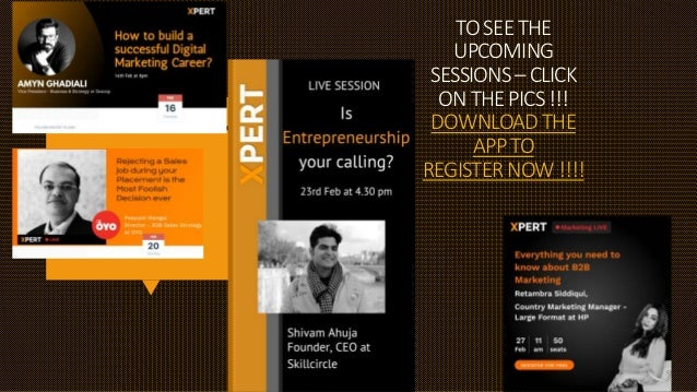 TOSEETHE UPCOMING SESSIONS–CLICK ONTHEPICS!!! DOWNLOADTHE APPTO REGISTERNOW!!!!