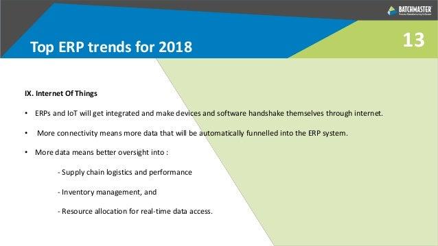 Top ERP Trends in 2018