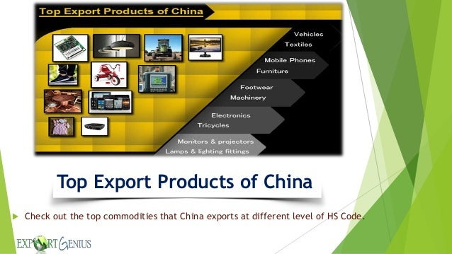 Top export products of china