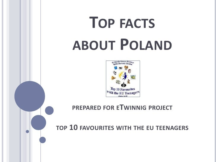 Top factsabout Polandprepared for eTwinnigprojecttop 10 favouriteswiththeeuteenagers<br />