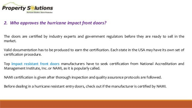 4. 2.  sc 1 st  SlideShare & Top FAQs related to impact resistant front doors
