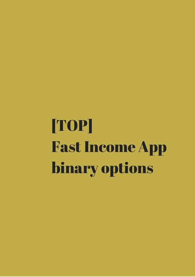 Easy binary options income