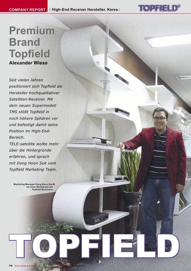 COMPANY REPORT                        High-End Receiver Hersteller, Korea     Premium Brand Topfield Alexander Wiese   Seit...