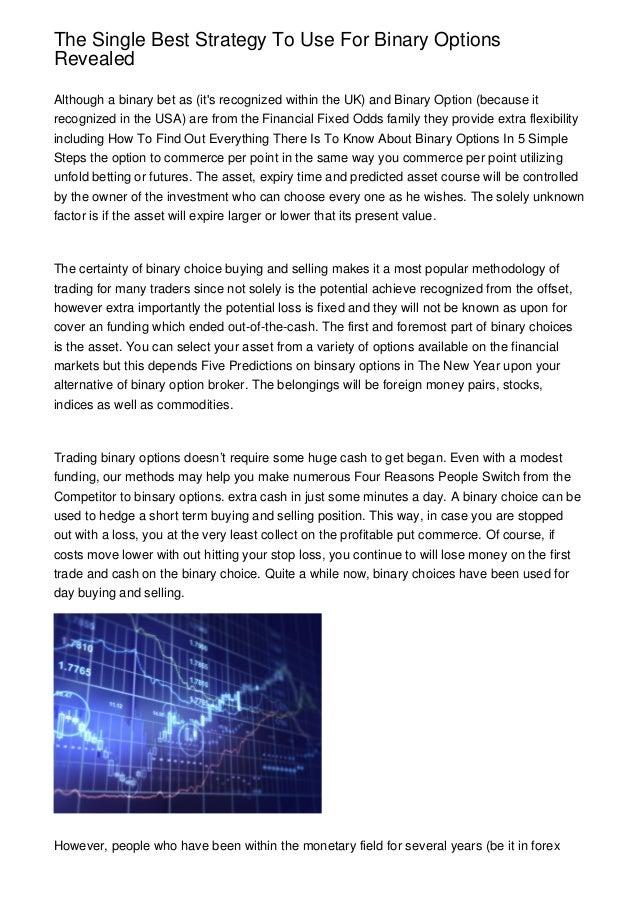 Us based binary options trading