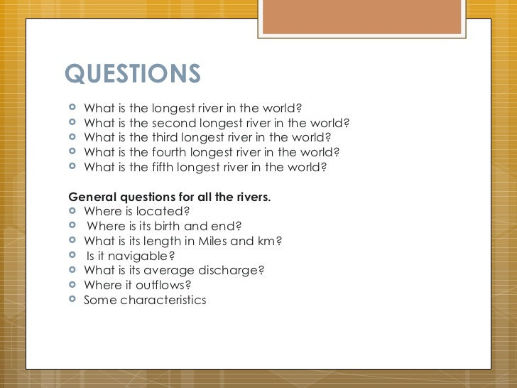 Top Five Longest Rivers - World's longest rivers top 5