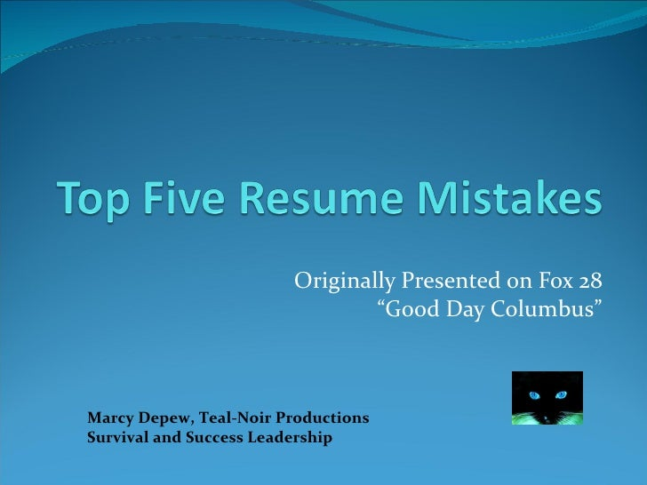 """Originally Presented on Fox 28 """"Good Day Columbus"""" Marcy Depew, Teal-Noir Productions Survival and Success Leadership"""