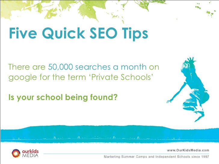 Five quick seo tips for private school websites - Five tips for quick cleaning ...