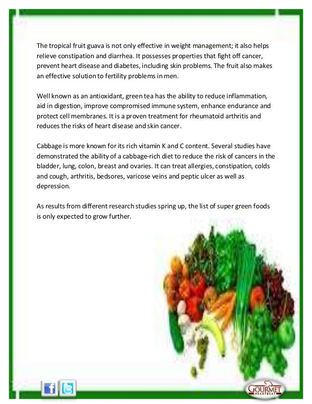 Top five super green foods Slide 2