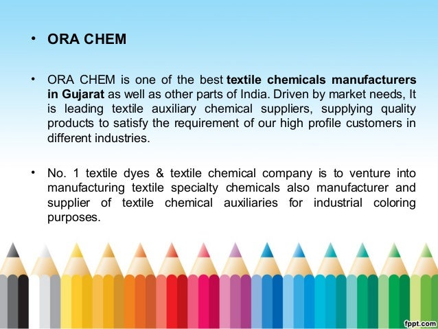 Top five textile chemicals manufacturers in india ora chem
