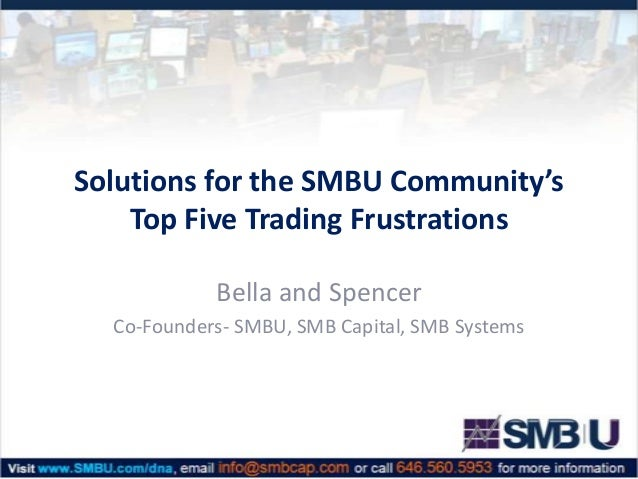 Solutions for the SMBU Community's Top Five Trading Frustrations Bella and Spencer Co-Founders- SMBU, SMB Capital, SMB Sys...
