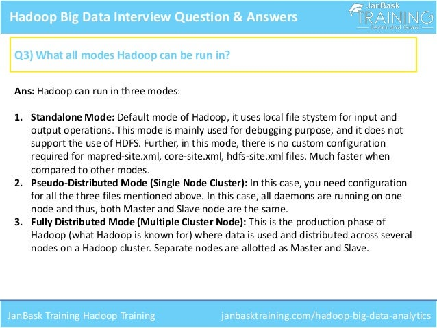 4 hadoop big data interview question answers - Data Analyst Interview Questions And Answers