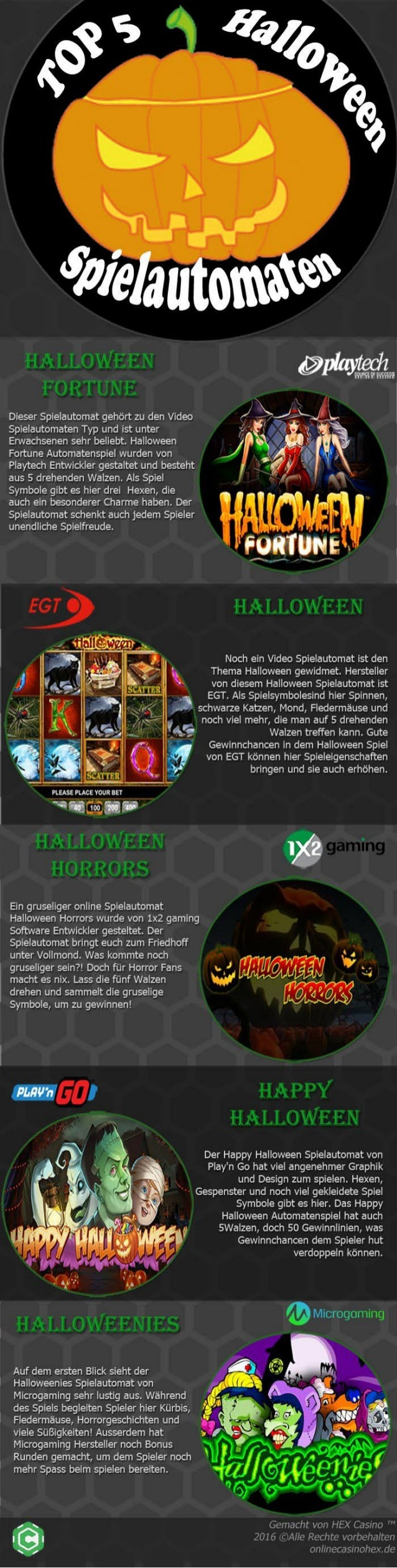 Top Halloween Spielautomaten Online