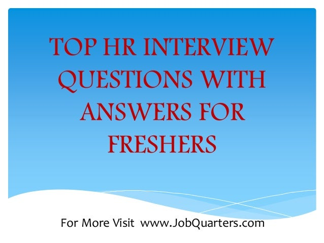 hr questions and answers for freshers pdf