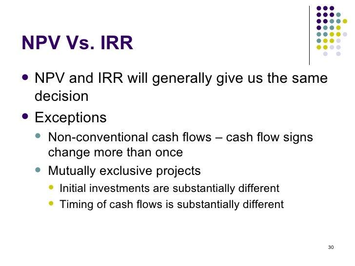 NPV vs. IRR