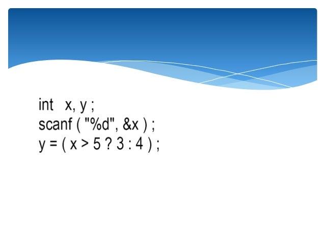 conditional operator in c pdf
