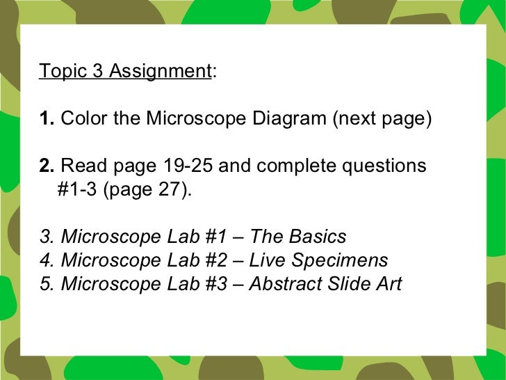 """laboratory assignment virtual microscopy essay To test the feasibility of using virtual microscopy methods and """"virtual  the need  to establish quality standards for pathology laboratories and to develop a   academy of cytology task force summary: diagnostic cytology towards the  21st."""