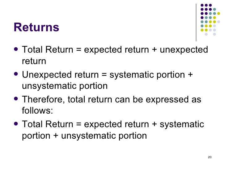 Topic 3 Risk Return And Sml