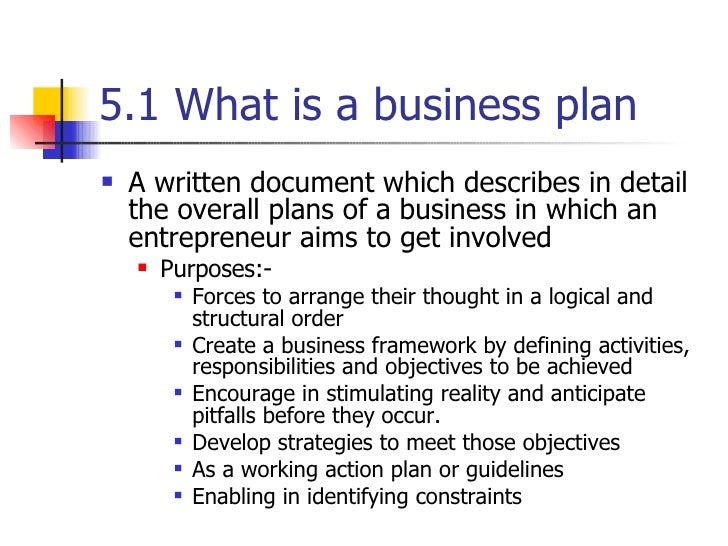 topic about business plan