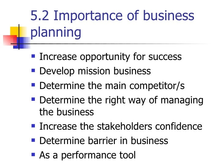 Business plan important points