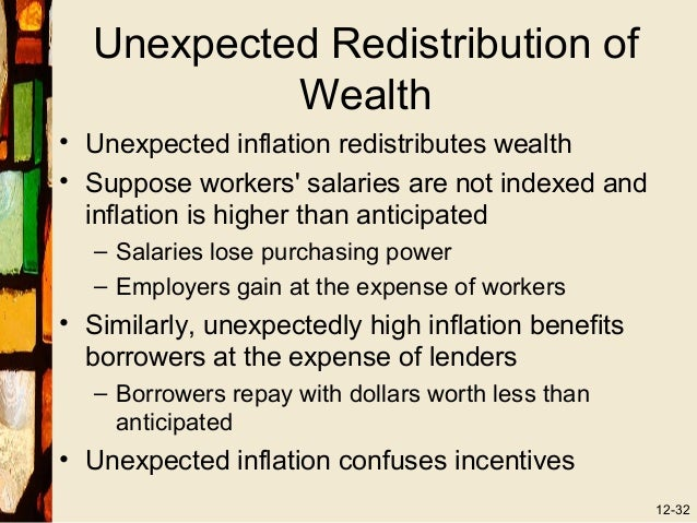unexpected inflation Number 1 resource for a special cost of unexpected inflation: arbitrary redistributions of wealth economics assignment help, economics homework & economics project.
