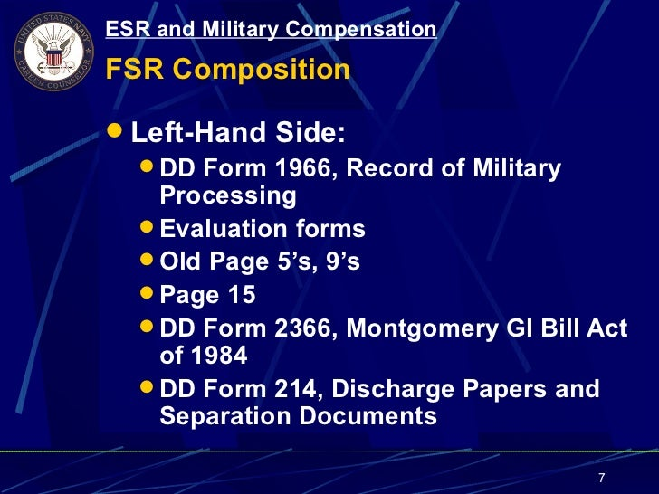 Topic 1.10 enlisted service records and military comp