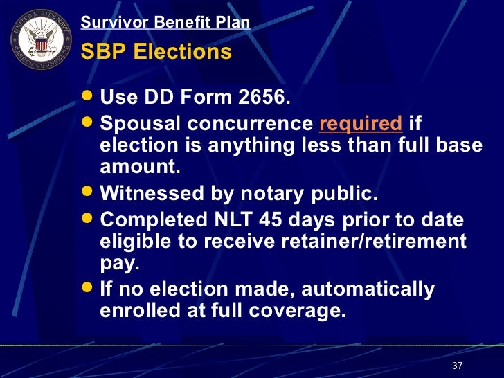Topic 1.21 SBP (Survivor Benefit Plan)